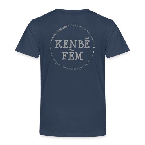 KenbeFem Back Gris png - T-shirt Premium Enfant