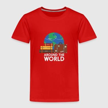 Runt världen - Premium-T-shirt barn