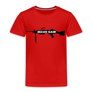 M249 SAW light machinegun design - Kinderen Premium T-shirt