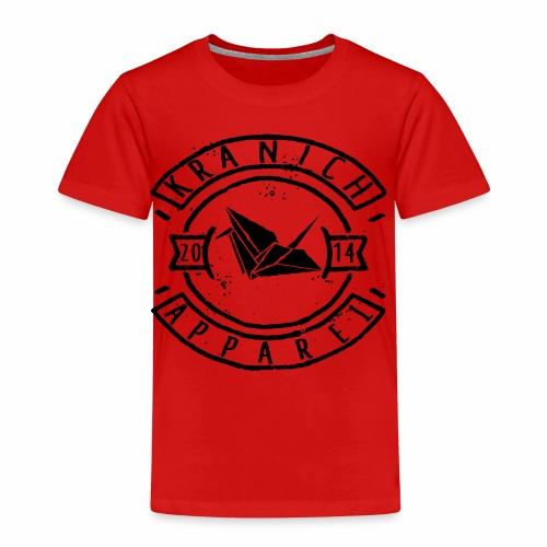 kranich Apparel Black - Kinder Premium T-Shirt