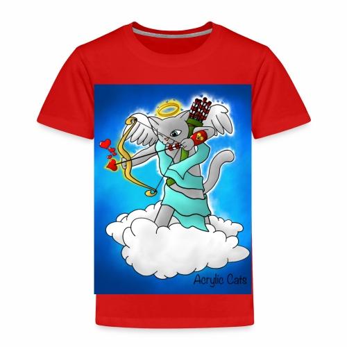 Valentine's Day Smokey Grey Cupid Cat - Kids' Premium T-Shirt