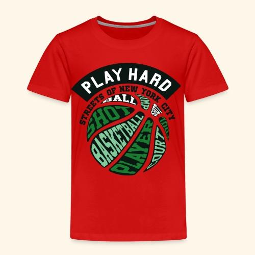 Spiele Hart Basketball . Eine gute Geschenkidee - Kinder Premium T-Shirt