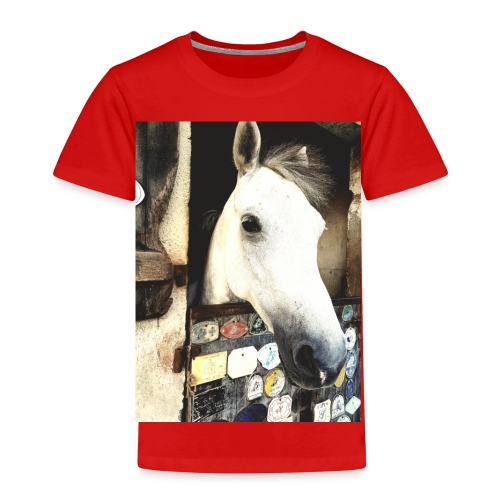 wit paard - Kinderen Premium T-shirt