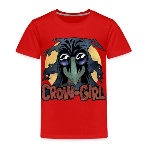 Crow Girl stare - Kids' Premium T-Shirt