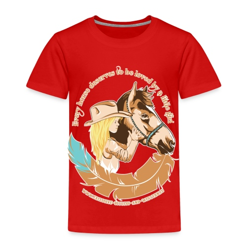 Little cow girl, Every horse deserves to be loved - Kinderen Premium T-shirt