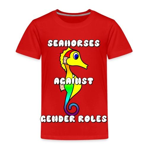 Seahorses against gender roles - Kids' Premium T-Shirt