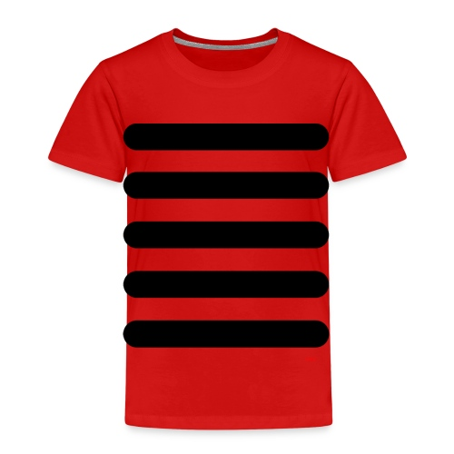 Streifen Schwarz Weiß - Kinder Premium T-Shirt