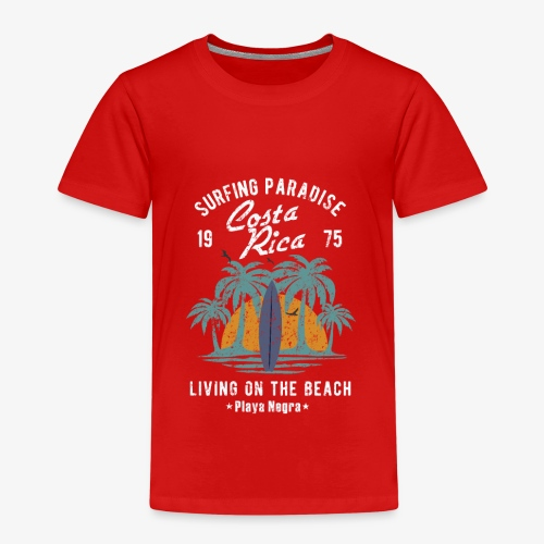 Surf Paradies Costa Rica Urlaub - Kinder Premium T-Shirt