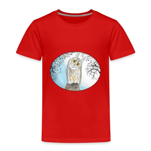 freunliche Waldohreule - Kinder Premium T-Shirt