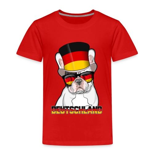Coole Französische Bulldogge mit Hut und Brille - Kinder Premium T-Shirt