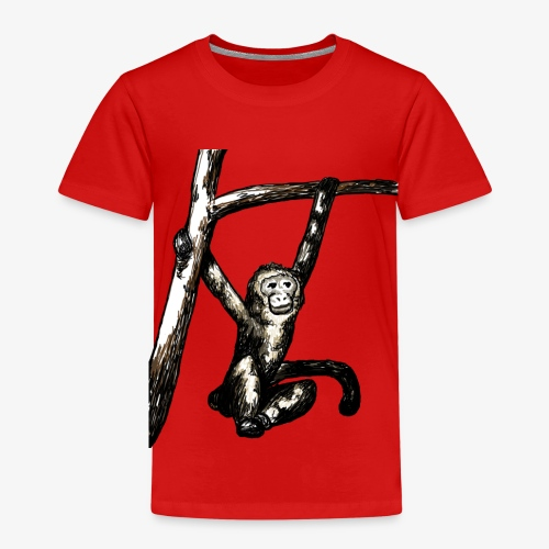 Swinging Monkey in Tree Wildlife T-Shirt - Kids' Premium T-Shirt