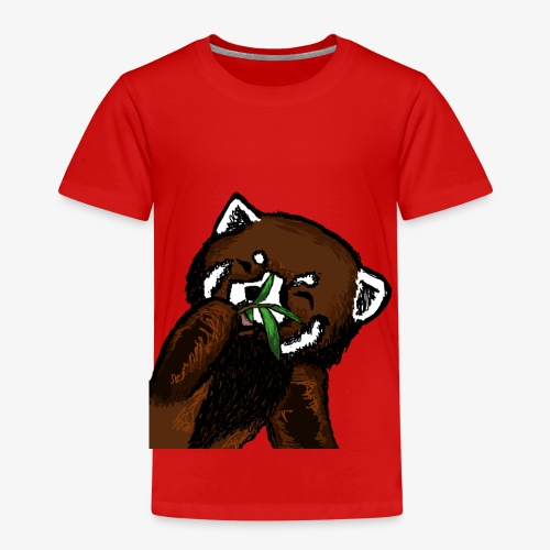 Cute red panda with Bamboo Wildlife T-Shirt - Kids' Premium T-Shirt