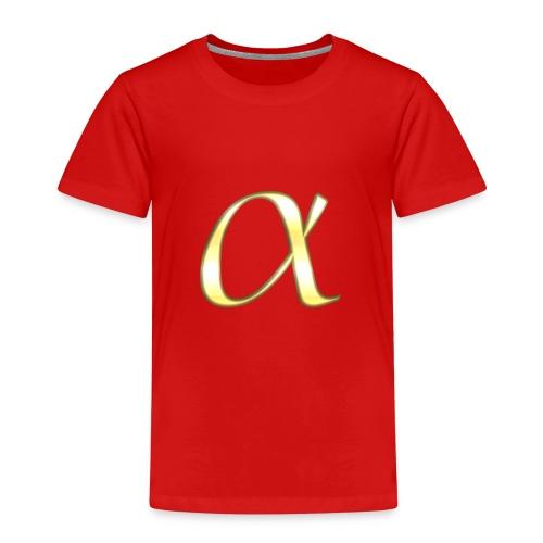 Alpha in Gold - Kinder Premium T-Shirt