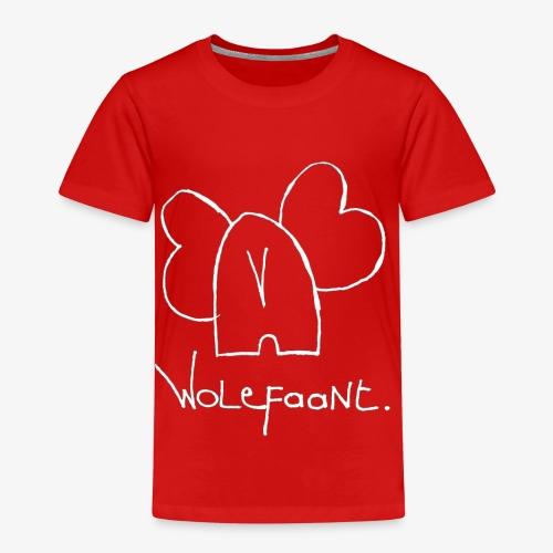 Witte Wolefaant. - Kinderen Premium T-shirt