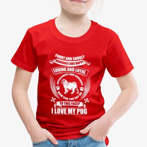 Hund / Dog Motiv mit Spruch – Funny and snugly... - Kinder Premium T-Shirt
