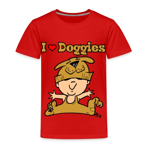 baby i love doggies color - Kinderen Premium T-shirt