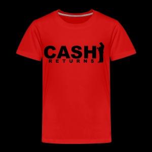 CASH RETURNS Logo (Black) - Kids' Premium T-Shirt