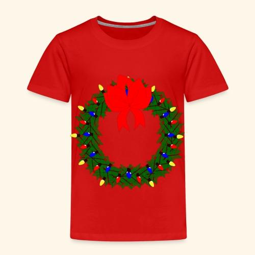 The christmas wreath - Kids' Premium T-Shirt
