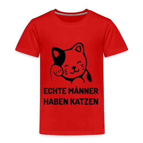 Echte Männer haben Katzen - Kinder Premium T-Shirt