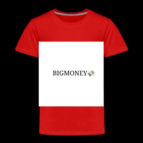 BigMoney hvit stor logo - Premium T-skjorte for barn
