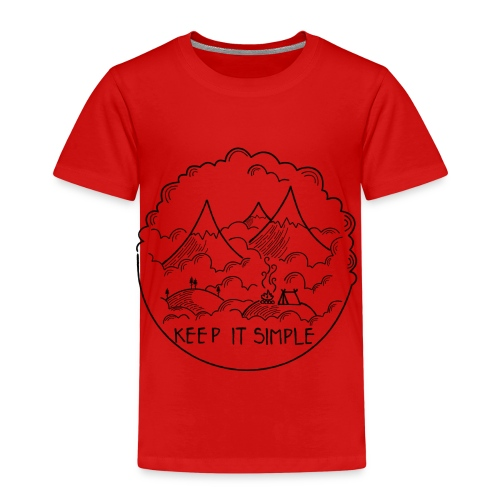 Keep it Simple Clouds Mountain Camping - Kinder Premium T-Shirt