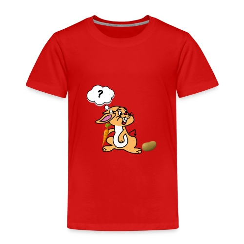 Verwirrt Hase - Kinder Premium T-Shirt