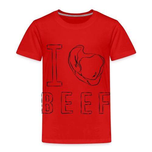 I LOVE BEEF - ICH LIEBE FLEISCH - Kinder Premium T-Shirt