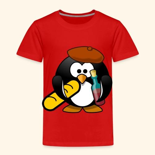 Französisch Baguette Pinguin Stereotyp - Kinder Premium T-Shirt