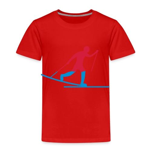 Skiløper - Premium T-skjorte for barn