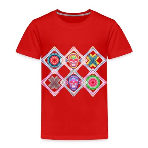 Rombos skulls - Camiseta premium niño