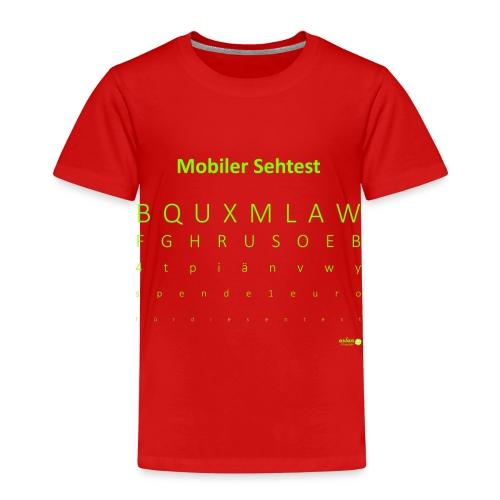 Mobiler Sehtest 2 - Kinder Premium T-Shirt