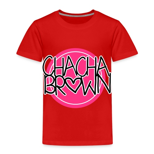 Chach Brown Big Logo - Kinderen Premium T-shirt