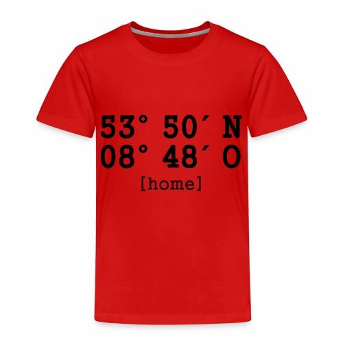 Bremen Koordinaten home - Kinder Premium T-Shirt