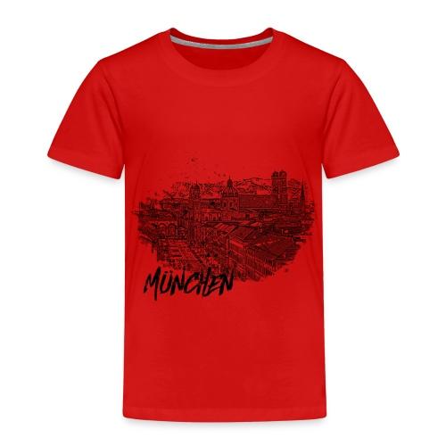 München / Munich Stadtansicht Skizze mit Alpen - Kinder Premium T-Shirt