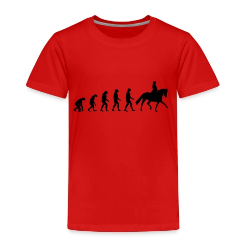 Evolution Of A Dressage Rider - Kids' Premium T-Shirt