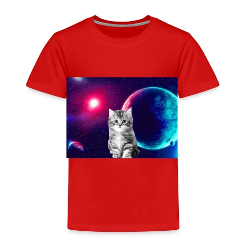 Cute cat in space - Lasten premium t-paita