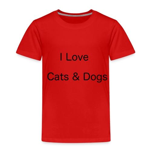 ILoveCatsandDogs - Kinder Premium T-Shirt