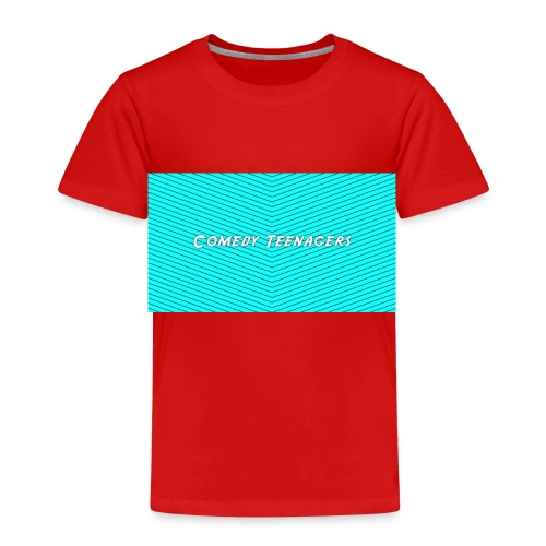 Light Blue Comedy Teenagers T Shirt - Premium-T-shirt barn