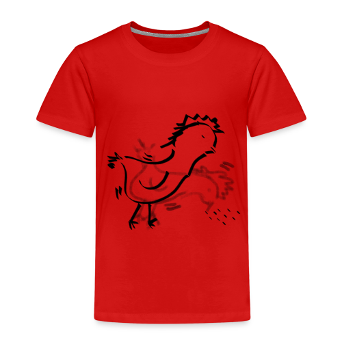 Das pickende Huhn - Kinder Premium T-Shirt