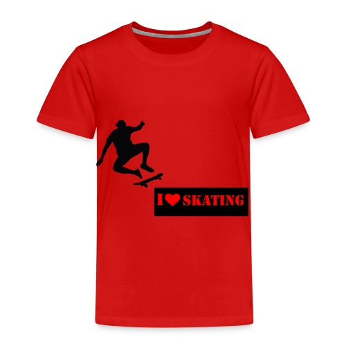 I Love Skating - Kinder Premium T-Shirt