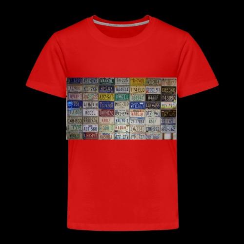 Amerikanische Autokennzeichen - Kinder Premium T-Shirt
