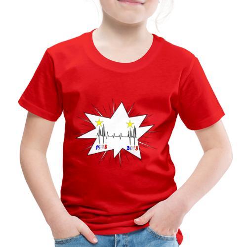 coupe du monde 2018 électrocardiogramme les bleus - T-shirt Premium Enfant