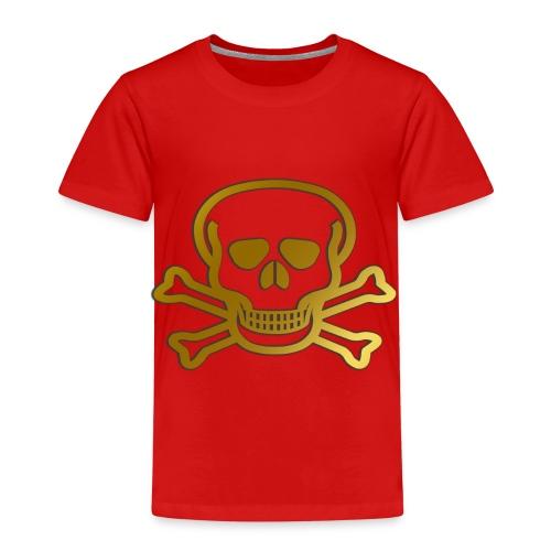 Goldener Totenkopf - Kinder Premium T-Shirt