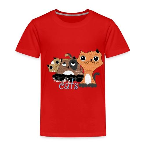 traviesos gatos divertidos - Camiseta premium niño