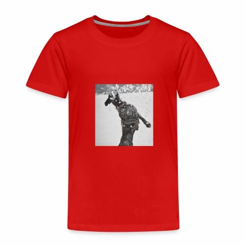 Boxer Hund Spaß im Schnee - Kinder Premium T-Shirt