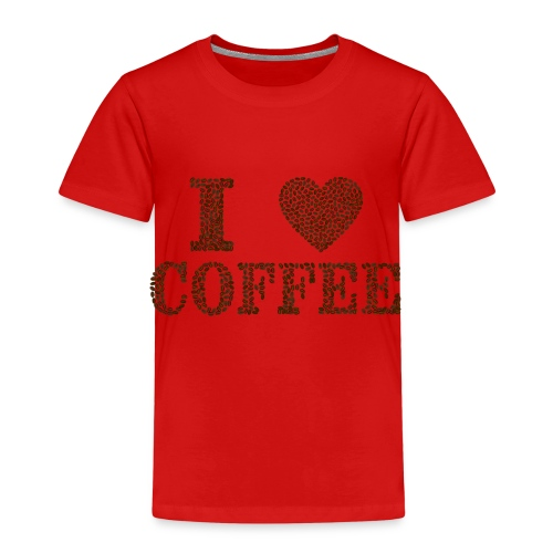 I Love Coffee - Kinder Premium T-Shirt