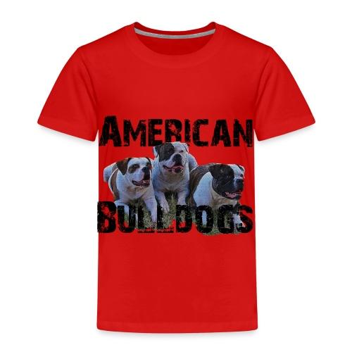 Bulldoge,Hundekopf,AmericanBulldog,Bulldogge,Hunde - Kinder Premium T-Shirt