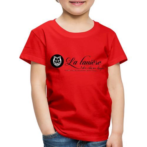 La Tanière des Chiens-Loups(logo plus grand) - T-shirt Premium Enfant