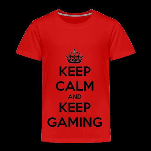 Keep Calm And Keep Gaming - Kids' Premium T-Shirt