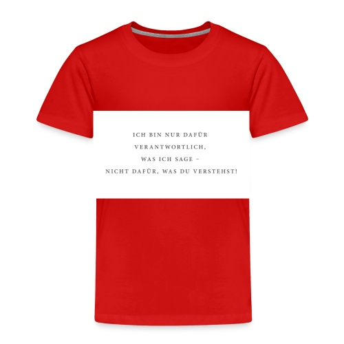 Sagen und Verstehen - Kinder Premium T-Shirt